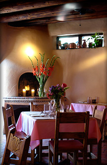 The Pink Adobe Located In Santa Fe